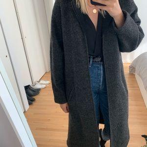 Jackets & Blazers - Grey 100% wool coat
